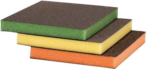 Set De Esponjas Abrasivas Para Lijado X 3 Piezas Lijas
