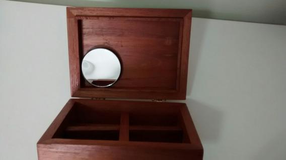Caixa Para Colecionismo, Porta-jóias, Maquiagem, Cedro-rosa