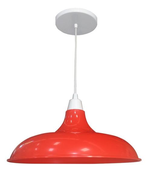 Pendente Prato Vermelho Diâmetro 32cm