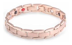 Bracelete Pulseira Titânio C/ Células Magnéticas Ecv22