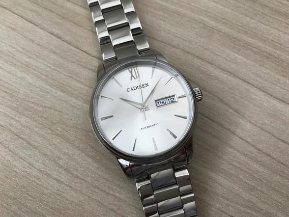 Relógio Cadisen Automático C1032 Máquina Seiko