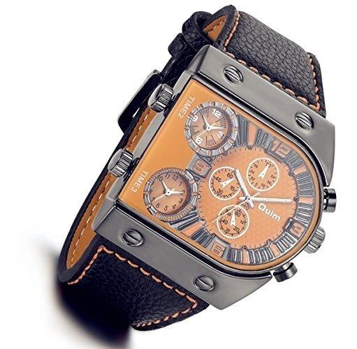 Lancardo Reloj Comercial De 3 Diferente Tiempo Mundial Gran