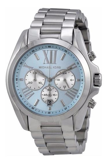 Relógio Michael Kors Mk6099 Azul Claro/ Prata - Original