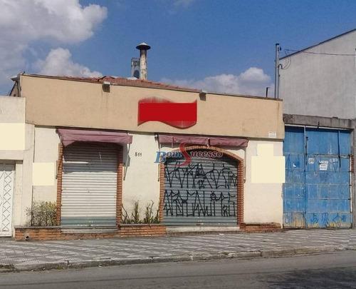 Imagem 1 de 6 de Salão, 1300 M² - Venda Por R$ 3.000.000,00 Ou Aluguel Por R$ 15.000,00/mês - Mooca - São Paulo/sp - Sl0112