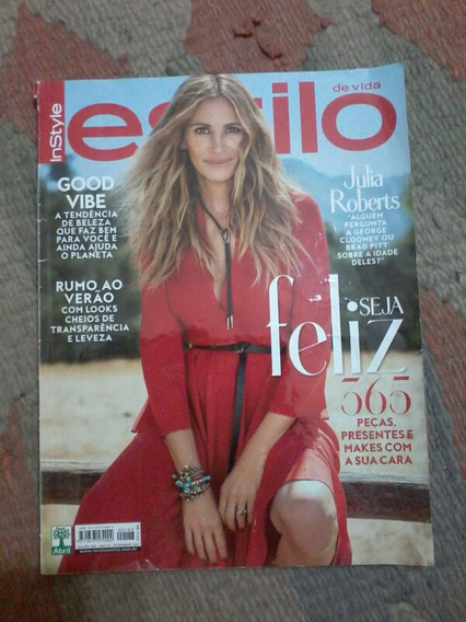 Revista Estilo Julia Roberts Nanda Costa Matt Damon Demi Lov