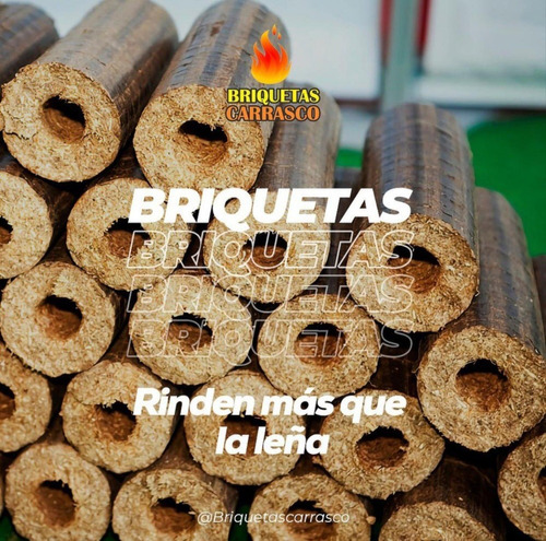 Briquetas  Leña  Carbon Madera 10 Kilos