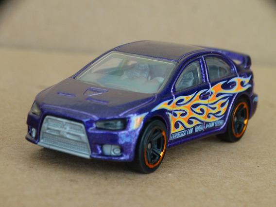 2008 Lancer Evolution Roxo - Hot Wheels 2012 - 1:64 Loose