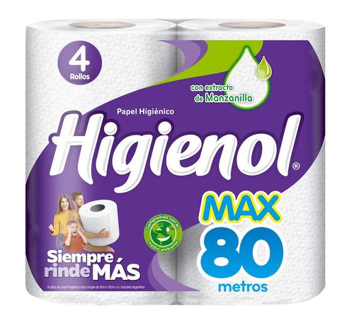 Papel higiénico Higienol MAX simple 80m de4u