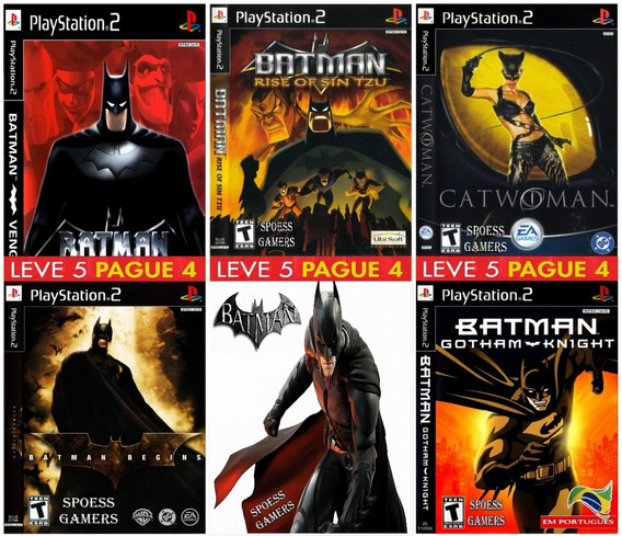 Batman Collection (5 Jogos) Ps2 Desbloqueado Patchs