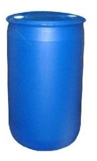 Bidon Tambor Plastico 200 L Usado Primer Uso 2 Tapas A Rosca