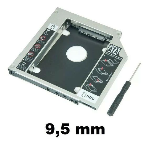 Adaptador Dvd P/ Hd Ou Ssd Notebook Drive Caddy 9.5mm Sata