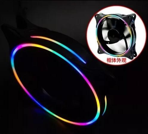 Fan Cooler Gamer Gaming Led Color 12x12 1cm Luz Led