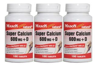 Super Calcio 600 + Vitamina D Americano Promo 3 Salud Huesos