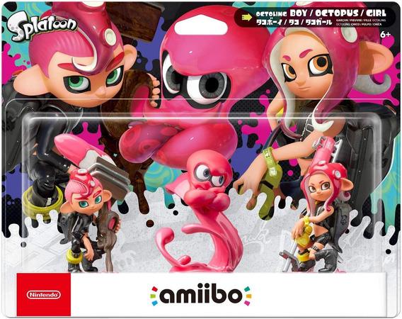 Amiibo: Splatoon 2 - Octoling Boy, Octopus, Girl