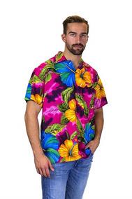483377142 Camisa Hawaiana Hombre Manga Corta Talla L Halloween V.h.o