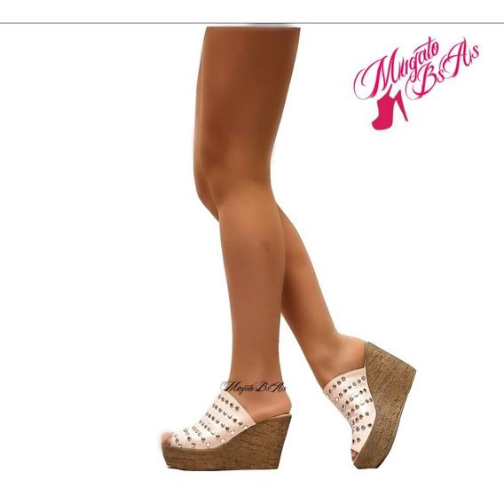 Zapatos De Mujer Guillermina Mocasin Plataforma Baja Primavera-verano Art 1455 Mugato-bsas®
