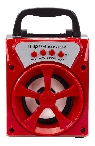 Caixa De Som Portatil Bluetooth Inova Rad-354z