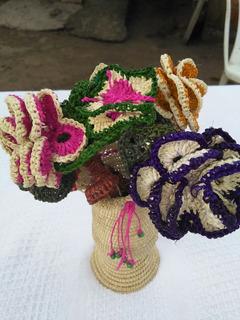 Florero En Fibra De Cumare, Artesanía Indigena