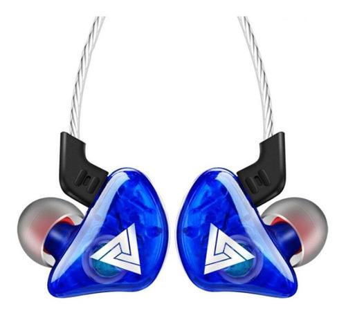 Imagen 1 de 2 de Audífonos in-ear QKZ CK5 azul