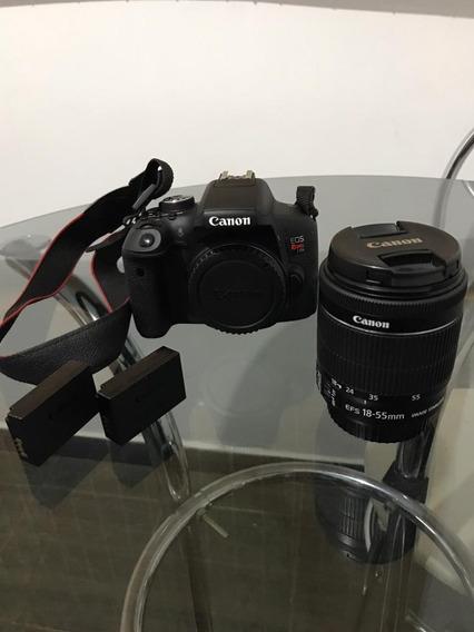 Canon T6i + Lente + 2 Baterias Originais + Carregador+ Bolsa