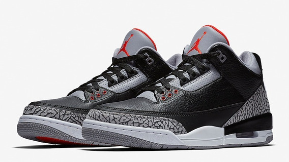 Air Jordan 3 Retro Og Black Cement Nba Basquetbol