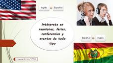 Intérprete Inglés/español En Todo Tipo De Eventos