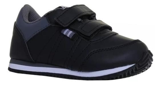 Nuevas Zapatillas Topper De Bebé Con Abrojo Theo Bb Negras