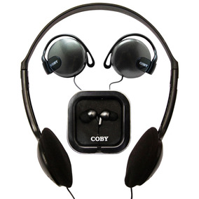 Kit Com3 Fones: Headphone + Auricular + Earphone Coby Cv324