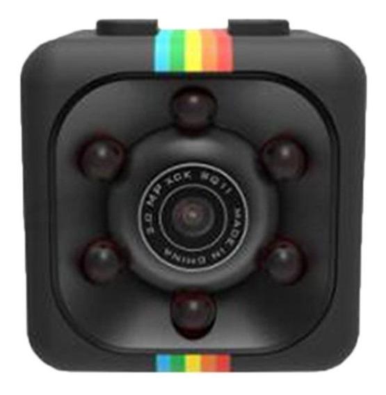 Sq11 Mini-preta Câmera Colorida