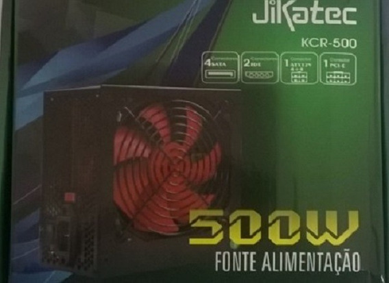 Fonte Real Jikatec Para Desktop Kcr-500 500w