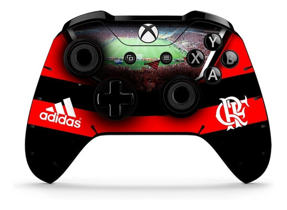 2 Skin Controle Xbox One Flamengo Fc Adesivo Com Verniz
