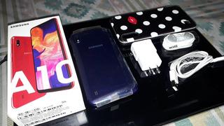 Vdo Samsung A10 Azul, Libre, 32gb, 2gb Ram, Impecable, Compl