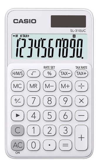 Calculadora Portátil Casio Sl-310uc My Style Blanco