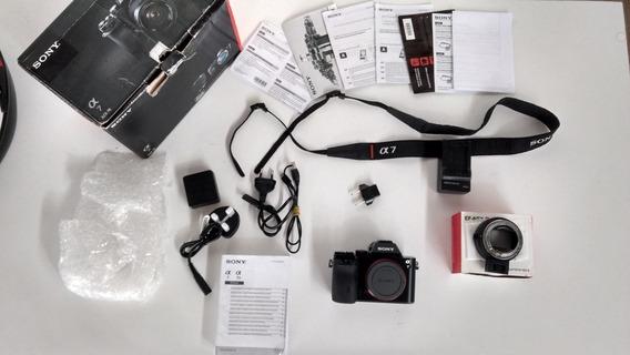 Sony A7 Com Adaptador Para Canon
