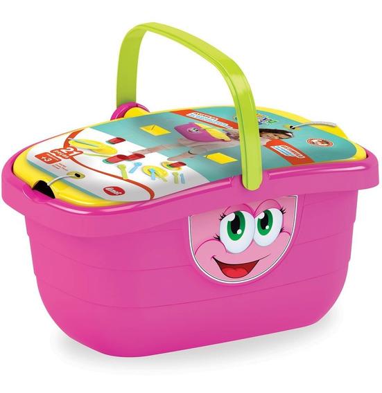 Brinquedo Educativo Kit Cozinha Para Criança Cesta 2 Em 1