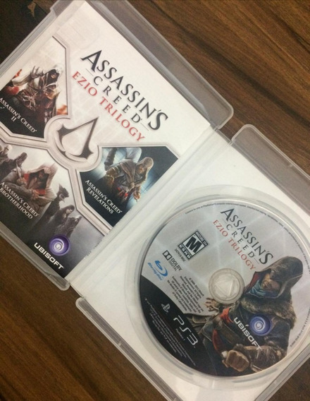 Jogo Game Ps3 Assassins Creed Ezio Trilogy Original Ps3 Play