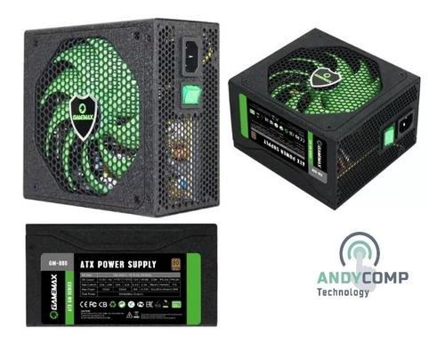 Fuente De Poder Gamer Gamemax Gm-800 800w 80+ Bronze Modular