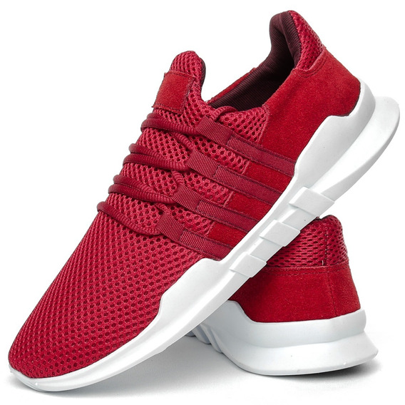 Tênis 4 Listras Masculino Vermelho