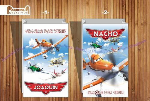 Bolsitas Para Sorpresitas Aviones De Disney X10 Unid