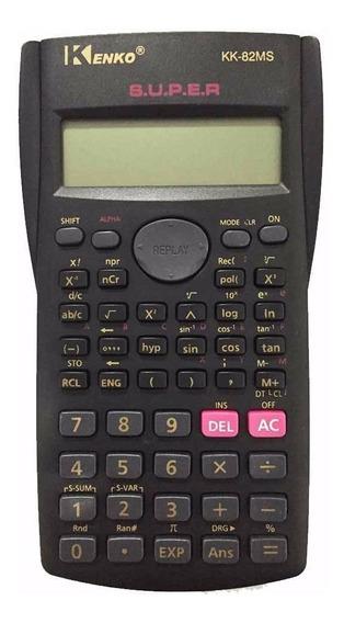 Calculadora Cientifica Kenko Kk-82ms Funções Capa Protetora