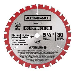 Admiral 62731 Disco Para Sierra 5 1/2 X 30 Dientes