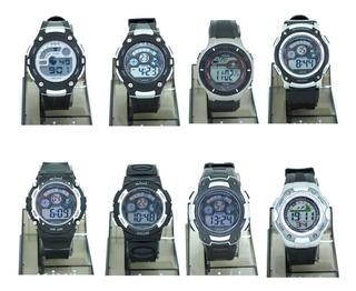 Reloj Digital Hombre Kiwi Ki02 Plateado 1 Y 2 Plumitaa Impc
