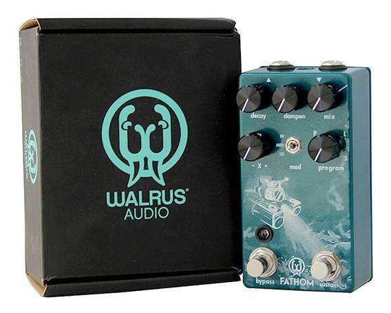 Pedaleira Walrus Audio Fathom Efeito Reberb Guitarra Novo