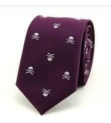 Corbata Slim Skull And Bones. Excelente Calidad.