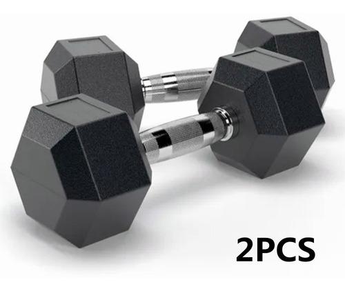 Imagen 1 de 10 de 2 Mancuernas Hexagonales  10lb 4.5kg C/u, Ideal Fitness