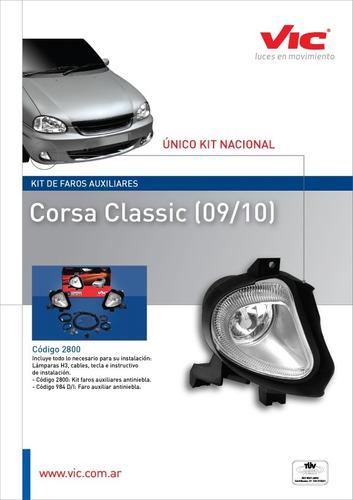 Kit Faros Auxiliares Chevrolet Corsa Classic 99/10 Rosario