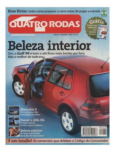Quatro Rodas Nº461 Golf Passat Alfa 156 Mercedes S500 Strada