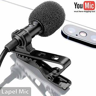 Lavalier Micrófono De Solapa Para iPhone X Plus S ...