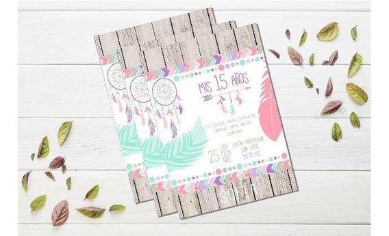 Tarjeta 15 Años Invitacion Casamiento Imprimible Editable