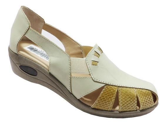Sandalias De Cuero Vacuno Dama -calzados Union- Art 513